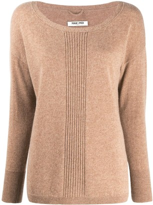 Max & Moi Ribbed-Centre Round Neck Sweater