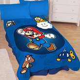 Nintendo Super Mario Who's With Me Microraschel Blanket, 62-Inches by 90-Inches