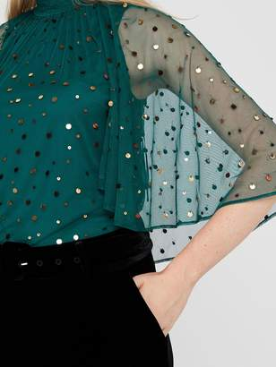 Monsoon Kimberley Cape Sequin Top - Teal