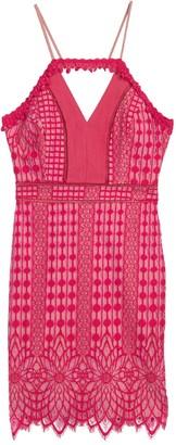 Harlyn Contrast Chiffon Lace Halter Sheath Dress