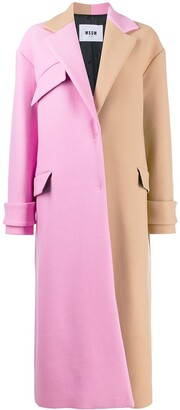 MSGM oversized two-tone coat