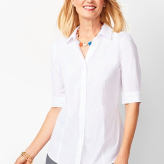 Talbots Perfect Shirt - Elbow-Length Sleeves - Solid