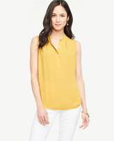 Ann Taylor Home Tops + Blouses Pleated Popover Shell Pleated Popover Shell