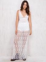 MinkPink Sand & Sea Lace Maxi Dress