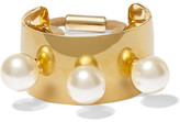Jennifer Behr Gold-plated Swarovski Pearl Hair Tie - one size