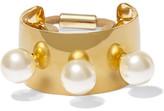 Jennifer Behr Gold-plated Swarovski Pearl Hair Tie - one size
