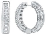 Crislu Platinum Plated Cz Drop Earrings.
