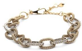 Alexis Bittar Modern Georgian Crystal Encrusted Mesh Chain Link Bracelet