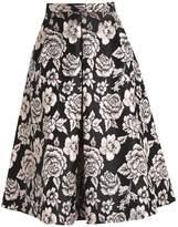Dorothy Perkins ROSE GOLD FLORAL PROM SKIRT Aline skirt rose gold
