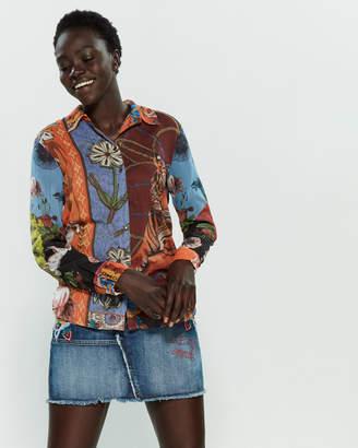 Desigual Safira Printed Long Sleeve Shirt