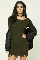 Forever 21 Distressed Ribbed Sweater