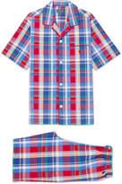 Polo Ralph Lauren Checked Cotton-Poplin Pyjama Set