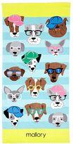 Pottery Barn Kids Allover Dogs Kid Beach Towel