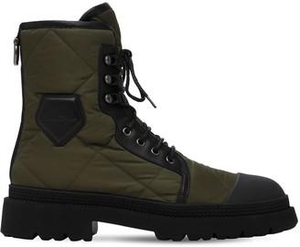 Salvatore Ferragamo 35mm Nylon, Leather & Rubber Boots