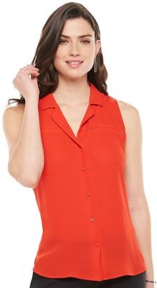 Apt. 9 Women's Notch Collar Sleeveless Top