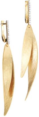 I. Reiss 14K 0.13 Ct. Tw. Diamond Dangling Earrings