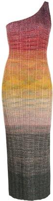 Missoni Colour-Block One Shoulder Dress