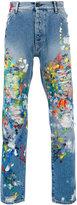 Palm Angels paint splash jeans