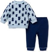 Little Me Baby Boy 2-Pc. Bear Sweatshirt Set