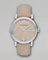 Burberry Check Sunray Watch, Tan