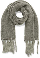 The Two Mrs Grenvilles GOLD LUREX KNIT WRAP