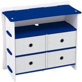Legare® Blue Racer 5-Shelf Tool-Free Dresser in Blue