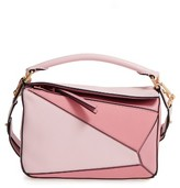 Loewe Small Puzzle Leather Shoulder Bag - Pink