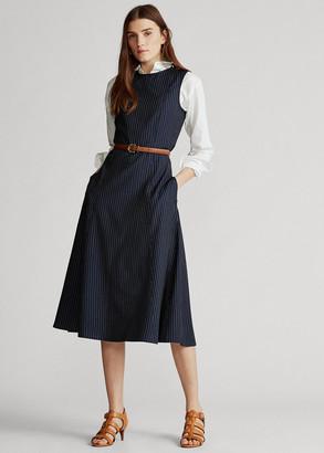 Ralph Lauren Pinstripe Wool Dress