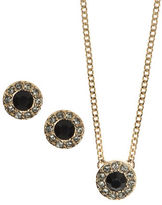 Givenchy Crystal Earrings and Pendant Necklace Set