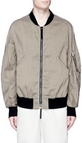 Ziggy Chen Ramie-cotton hopsack bomber jacket
