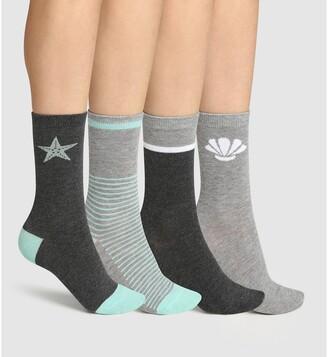 Dim Pack of 4 Pairs of Short Socks
