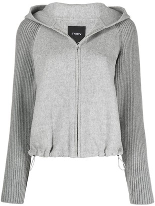 Theory Ribbed Zip-Up Hoodie