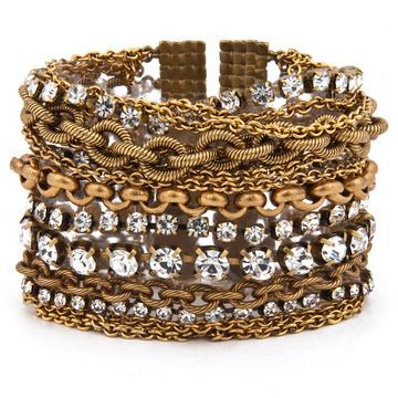 Elizabeth Cole Metallic Chain Bracelet