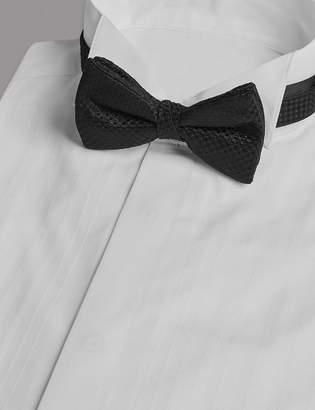 AutographMarks and Spencer Pure Silk Textured Bow Tie