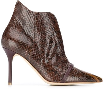 Malone Souliers Cora snakeskin-effect 85mm boots