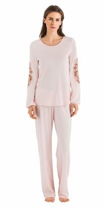 Hanro Women's Jana Long Sleeve Pajama Set