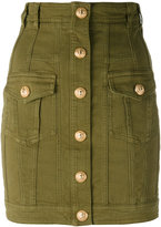 Balmain fitted military skirt - women - Cotton/Spandex/Elastane - 36