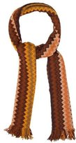Missoni Zigzag Patterned Fringe Scarf
