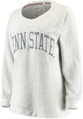 Women's Pressbox Gray Penn State Nittany Lions Helena Comfy Sweatshirt