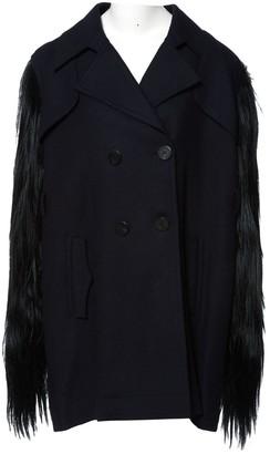 Fendi Blue Wool Coat for Women