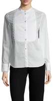 Temperley London Nicolette Cotton Lace Trim Blouse