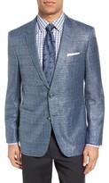BOSS Men's T-Hanley Trim Fit Windowpane Wool Blend Sport Coat