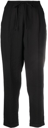 Alysi High-Rise Drawstring Cropped Trousers
