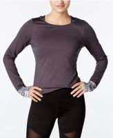 Jessica Simpson The Warm Up Juniors' Open-Back Compression Top