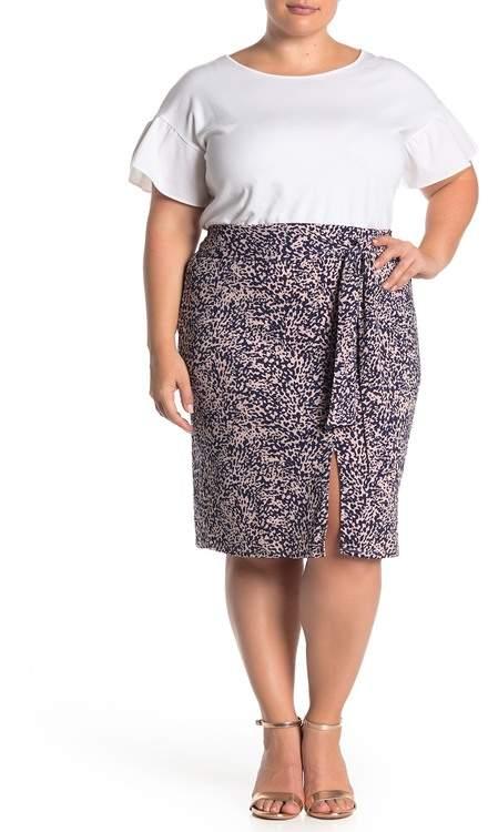 14th & Union Front Tie Skirt (Plus Size)