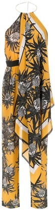 Andrea Marques Silk Printed Jumpsuit