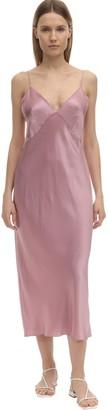 Olivia von Halle Issa Silk Slip Dress