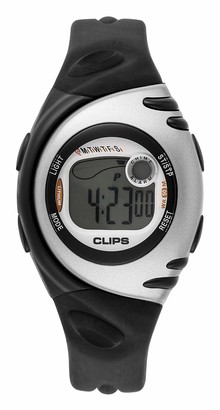 Clips Women's Quartz Watch with Grey Dial and Black Rubber Strap 539-1002-84