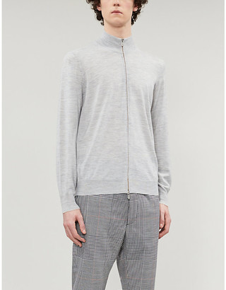 Brunello Cucinelli Funnel-neck wool and cashmere-blend jumper