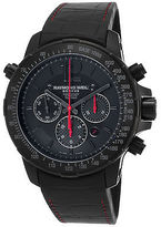 Raymond Weil 7850-BSF-05207 Men's Nabucco Auto Chrono Black Rubber and Dial